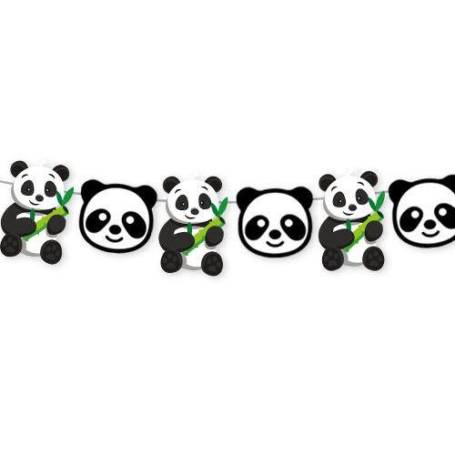 Panda Temalı Dekoratif Banner 140x17 cm, fiyatı
