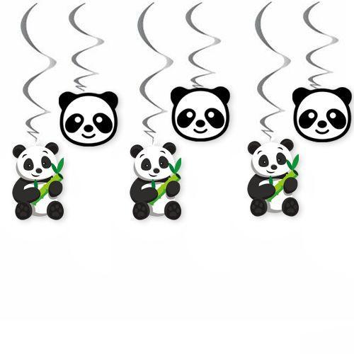 Panda Temalı Tavan Süs 6 Adet, fiyatı