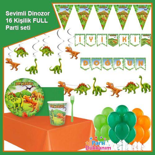 Sevimli Dinozor 16 Kişilik Ekonomik Parti Seti, fiyatı