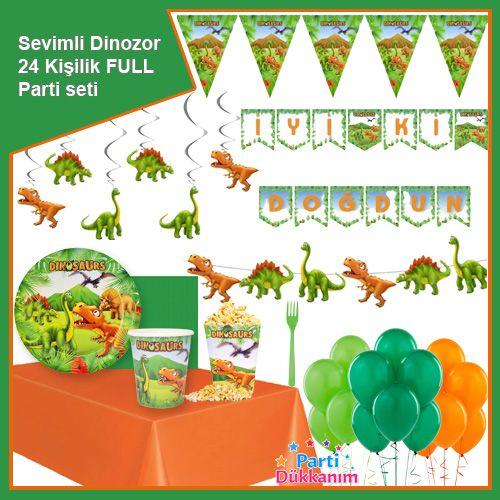Sevimli Dinozor 24 Kişilik Ekonomik Parti Seti, fiyatı