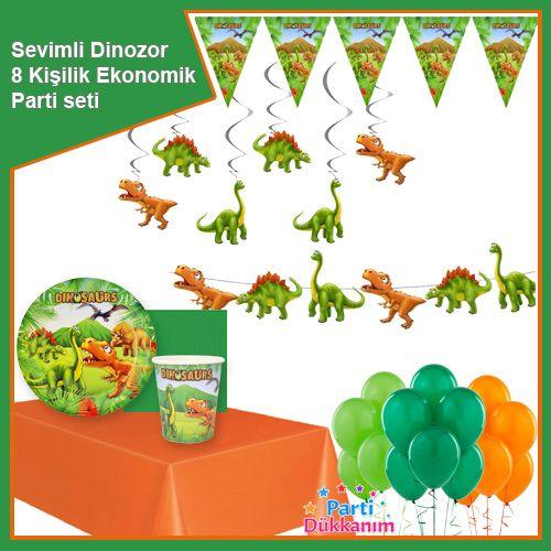 Sevimli Dinozor 8 Kişilik Ekonomik Parti Seti, fiyatı