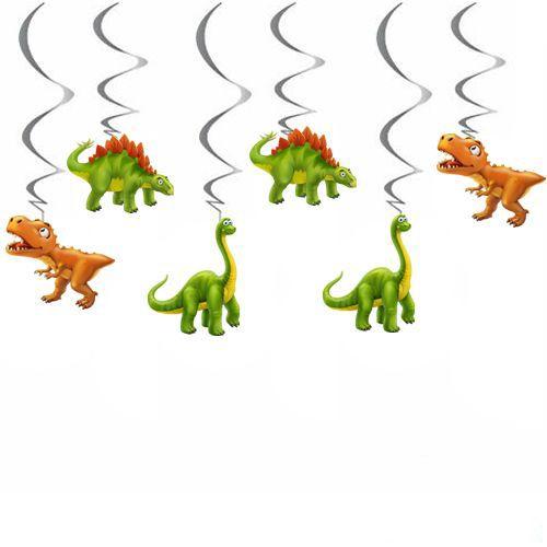 Sevimli Dinozor Tavan Süs 6 Adet, fiyatı