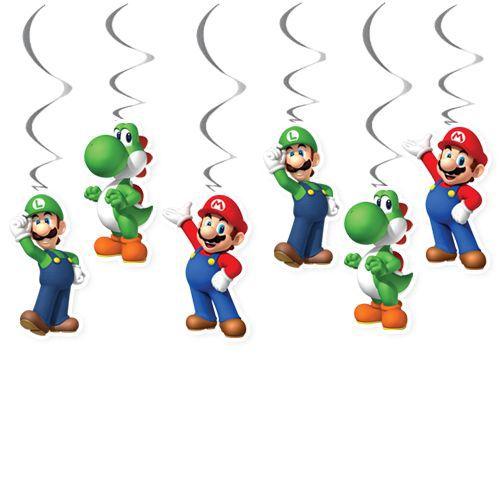 Süper Mario Tavan Süs 6 Adet, fiyatı