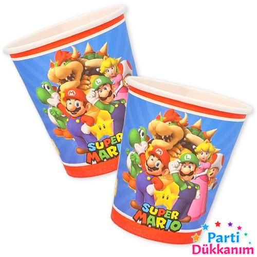 Süper Mario Bardak 8 adet, fiyatı