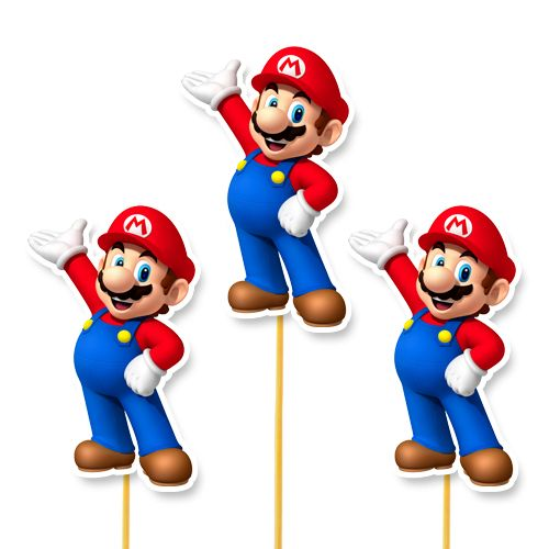 Süper Mario Çubuklu Parti Aksesuarı 6 Adet, fiyatı