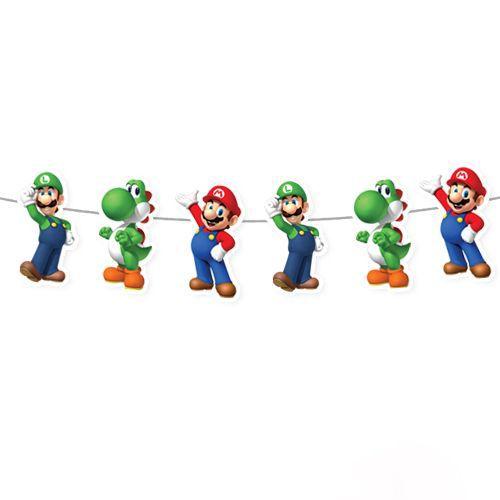 Süper Mario Dekoratif Banner 160x17 cm, fiyatı