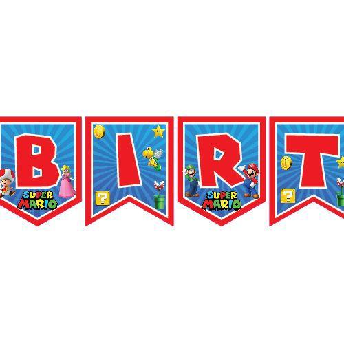 Süper Mario Happy Birthday Yazısı 190 cm, fiyatı