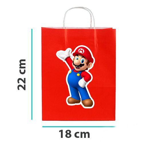 Süper Mario Kağıt Hediye Çantası 6 adet 18x22, fiyatı