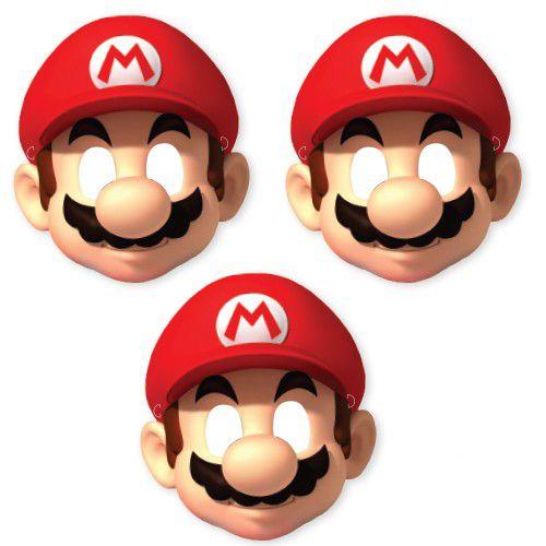 Süper Mario Kağıt Maske 6 Adet, fiyatı