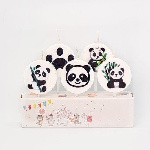 Panda Temalı Pasta Mumu 5 Adet, fiyatı
