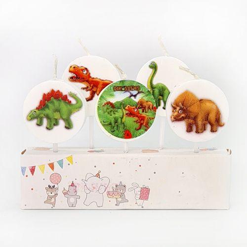 Sevimli Dinozor Pasta Mumu 5 Adet, fiyatı