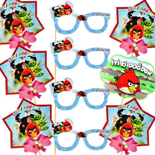Angry Birds Çubuklu Parti Aksesuarları Seti 10 Parça, fiyatı