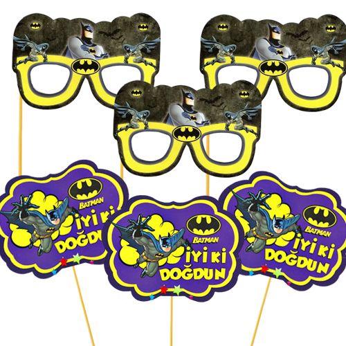 Batman Çubuklu Parti Aksesuarları Seti 6 Parça, fiyatı