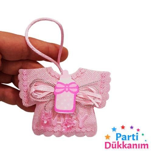 Bebek Hediyelik Askılı Kese Pembe 10 adet, fiyatı