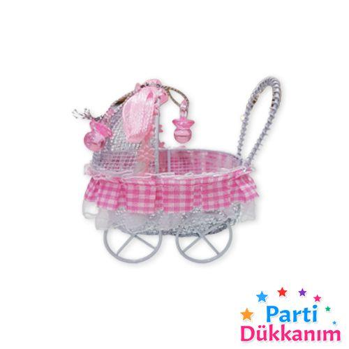 Bebek Hediyelik Ferforje Puset Pembe 1 adet, fiyatı