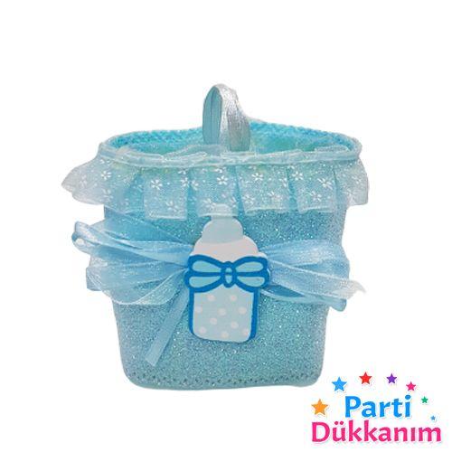 Bebek Hediyelik Kese Mavi 8 Adet, fiyatı