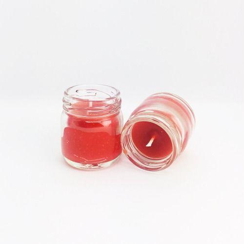 Kırmızı Kavanoz Mum Kokulu 2 Adet 5 cm, fiyatı