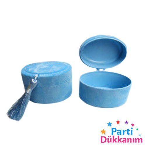 Bebek Hediyelik Kadife Kutu Mavi 10 adet, fiyatı