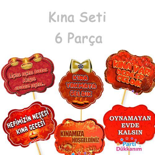 Kına Parti Aksesuarları Seti 6 parça, fiyatı