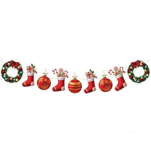 Yılbaşı Dekoratif Banner Noel Baba/Kardan Adam 130 cm, fiyatı