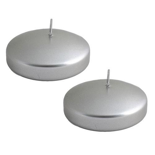 Gümüş Yüzen Mum 2 Adet Lüks, fiyatı
