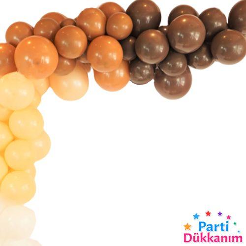 Çikolata Kahverengi Balon 15 Adet, fiyatı