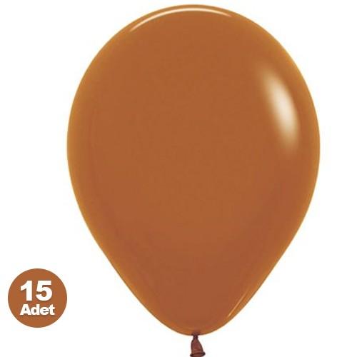 Karamel Kahverengi Balon 15 Adet, fiyatı