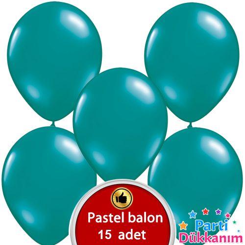 Koyu Turkuaz Balon 15 Adet, fiyatı