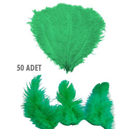 Yeşil Kuş Tüyü 50 Adet, fiyatı