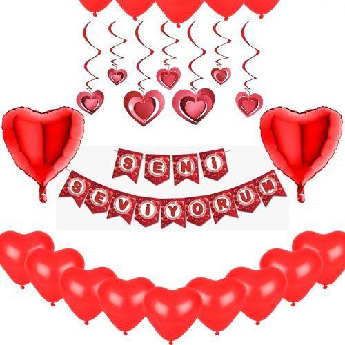 Sevgiliye Özel Doğum Günü Süsleri Seti, fiyatı