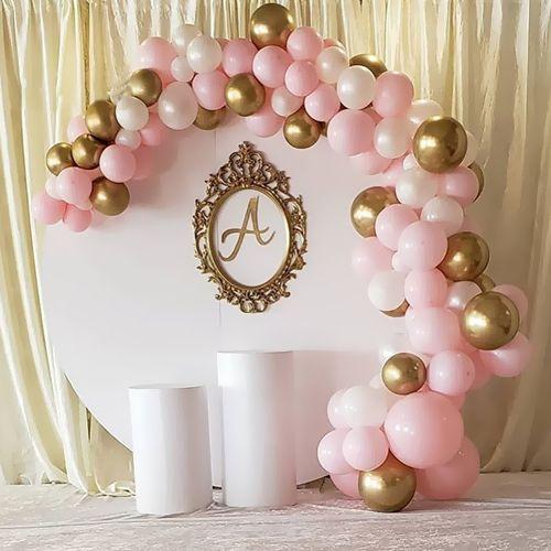Balon Zinciri - Gold Beyaz Pembe 120 adet, fiyatı