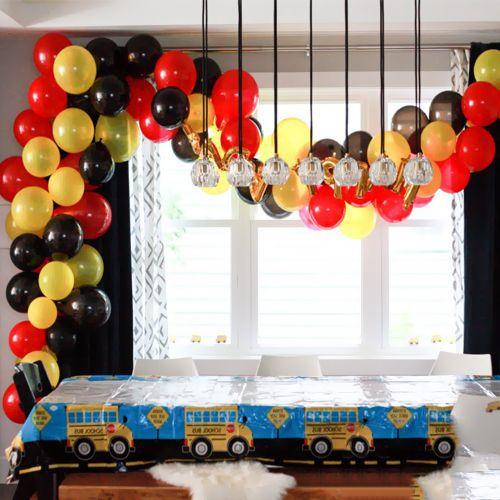 Balon Zinciri - Sarı Kırmızı Siyah 120 adet, fiyatı