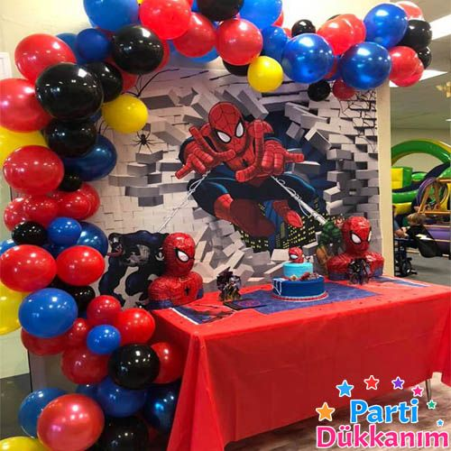 Balon Zinciri - Kırmızı Mavi Siyah Sarı 100 adet, fiyatı