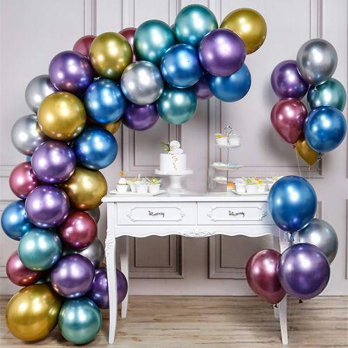 Balon Zinciri - Karışık Krom Balon 70 adet, fiyatı