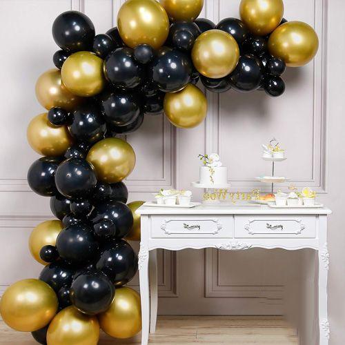 Balon Zinciri - Gold Siyah 100 Adet, fiyatı