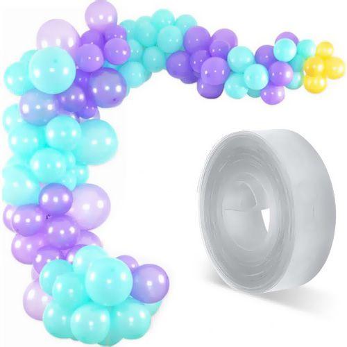 Balon Zinciri - Su Yeşili Lila Sarı 100 Adet, fiyatı