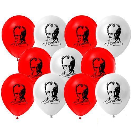 Atatürk Baskılı Balon (100 adet), fiyatı