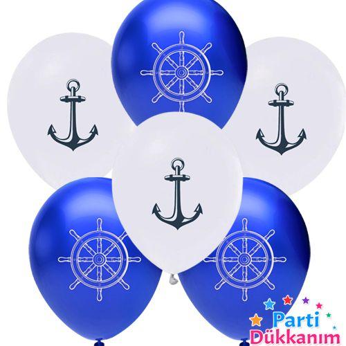 Denizci Temalı Balon 10 adet, fiyatı