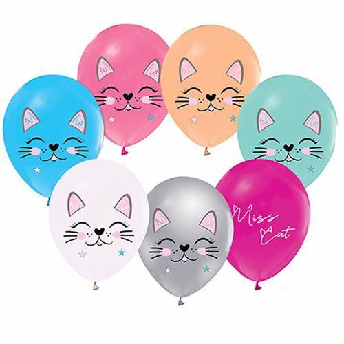 Miss Cat Kedi Baskılı Balon 15 adet, fiyatı