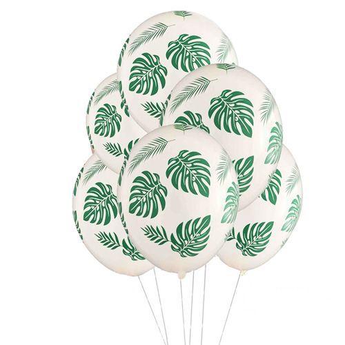 Tropikal Yaprak Desenli Balon (15 Adet), fiyatı