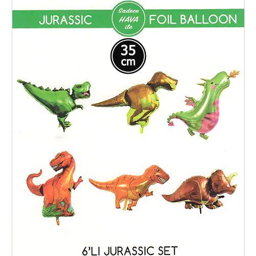 Dinozor Folyo Balon 6 lı 35 cm