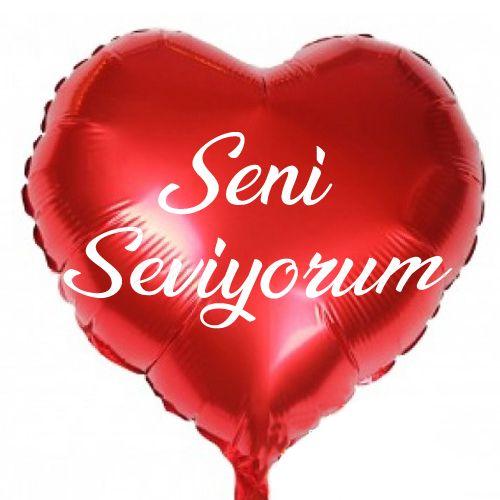 Seni Seviyorum Folyo Balon 45 cm, fiyatı