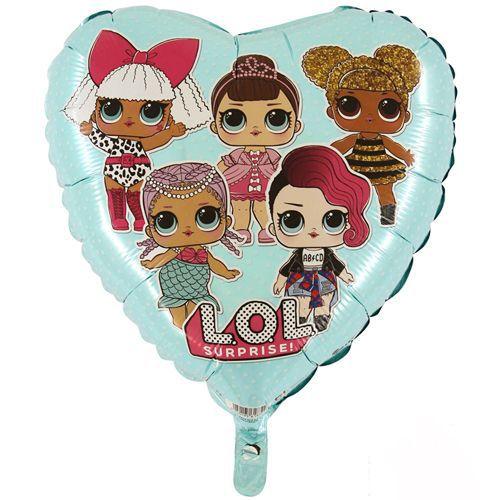 LOL Bebek Folyo Balon Kalp Şekilli Mavi (45 cm), fiyatı