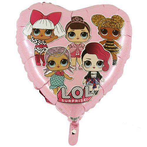 LOL Bebek Folyo Balon Kalp Şekilli Pembe (45 cm), fiyatı