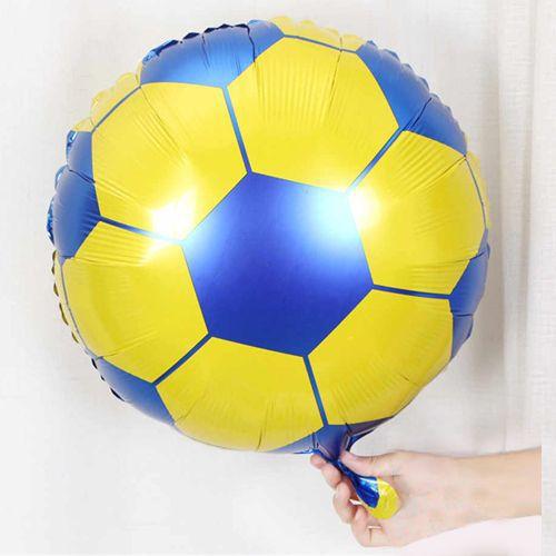 Sarı Lacivert Futbol Topu Folyo Balon (45 cm), fiyatı