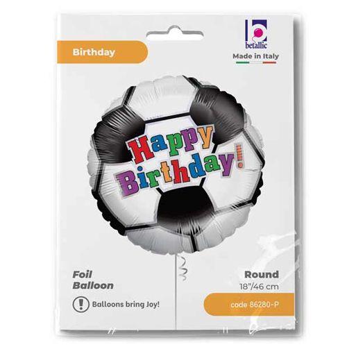 Siyah Beyaz Futbol Topu Folyo Balon (45 cm), fiyatı