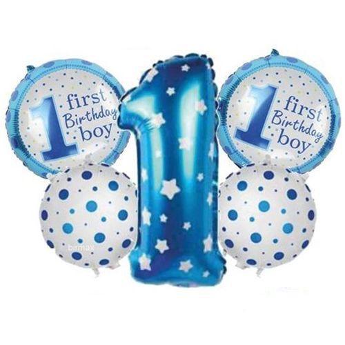 1 Yaş Folyo Balon Set Mavi, fiyatı