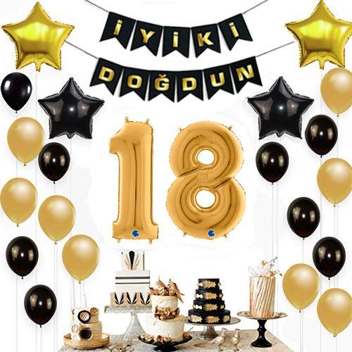 18 Yaş Doğum Günü Süsleri Seti, fiyatı