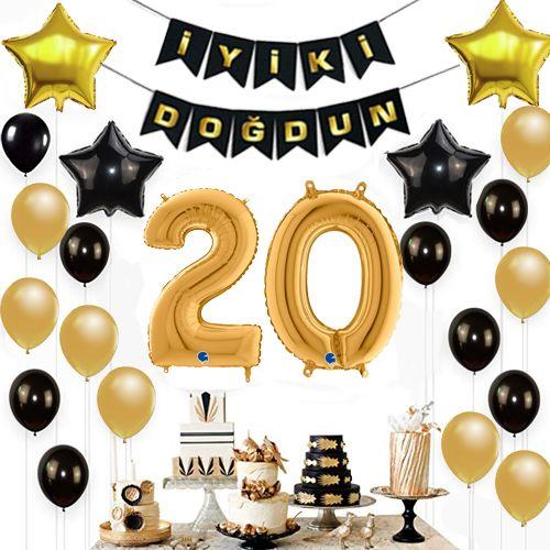 20 Yaş Doğum Günü Süsleri Seti, fiyatı