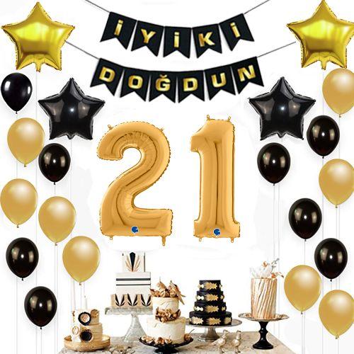 21 Yaş Doğum Günü Süsleri Seti, fiyatı